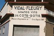 domaine vidal fleury ampuis rhone france
