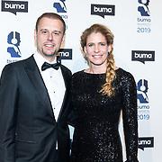 NLD/Hilversum/20190311  - Uitreiking Buma Awards 2019, Armin van Buuren en partner Erika van Thiel