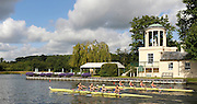 Henley, GREAT BRITAIN, GV of the Temple Island and the regatta course, Princess Grace Challenge Cup, Bucks, Marlow Rowing Club and Imperial College BC.  2008 Henley Royal Regatta, on  Friday, 04/07/2008,  Henley on Thames. ENGLAND. [Mandatory Credit:  Peter SPURRIER / Intersport Images] Rowing Courses, Henley Reach, Henley, ENGLAND . HRR