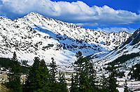 West side of 14,148 ft. Mount Democrat of the Mosquito Range.  Colorado, USA.