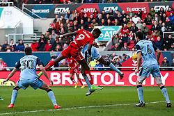 Tammy Abraham of Bristol City heads a shot - Rogan Thomson/JMP - 04/02/2017 - FOOTBALL - Ashton Gate Stadium - Bristol, England - Bristol City v Rotherham United - Sky Bet Championship.