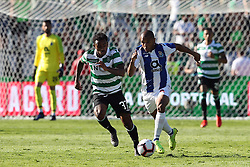 May 25, 2019 - Oeiras, Portugal - OEIRAS, PORTUGAL - MAY 25: Porto's Algerian forward Yacine Brahimi (R ) vies with Sporting's midfielder Wendel from Brazil (L) during the Portugal Cup Final football match Sporting CP vs FC Porto at Jamor stadium, on May 25, 2019, in Oeiras, outskirts of Lisbon, Portugal. (Credit Image: © Pedro Fiuza/NurPhoto via ZUMA Press)