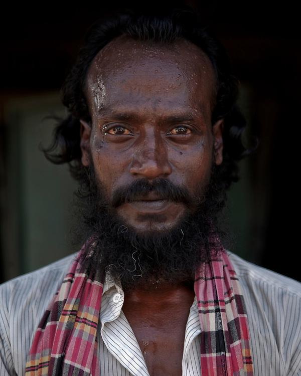 Portrait of a rickshaw driver