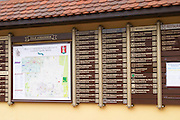 signboard with wineries eguisheim alsace france