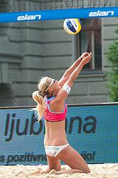 Erika Fabjan at Beach Volleyball Challenge Ljubljana 2014, on August 1, 2014 in Kongresni trg, Ljubljana, Slovenia. Photo by Matic Klansek Velej / Sportida.com