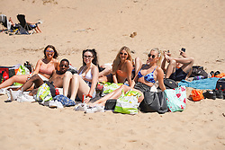 © Licensed to London News Pictures. 12/06/2021.Formby, UK. Youths enjoy the hot weather on Formby beach in Merseyside. Photo credit: Ioannis Alexopoulos/LNP