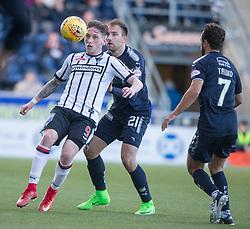 Dunfermline's Declan McManus and Falkirk's Conrad Balatoni. Falkirk 2 v 0 Dunfermline, Scottish Challenge Cup played 7/9/2017 at The Falkirk Stadium.