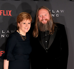 Outlaw King Premiere, Edinburgh, Friday 19th October 2018<br /> <br /> Outlaw King is a Netflix film and follows 14th century Scottish king Robert the Bruce prior to his coronation and through to his rebellion against the English, who at the time were occupying Scotland.<br /> <br /> Stars, crew and guests appear on the red carpet for the Scottish premiere.<br /> <br /> Pictured: First Minister Nicola Sturgeon and director David Mackenzie<br /> <br /> Alex Todd | Edinburgh Elite media