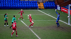 BIRKENHEAD, ENGLAND - Sunday, March 14, 2021: Liverpool's Ceri Holland scores the third goal during the FA Women's Championship game between Liverpool FC Women and Coventry United Ladies FC at Prenton Park. Liverpool won 5-0. (Pic by David Rawcliffe/Propaganda)
