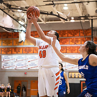 Gallup's Hailey Long (40) takes a shot in the paint Friday night against Bloomfield at Gallup High School.