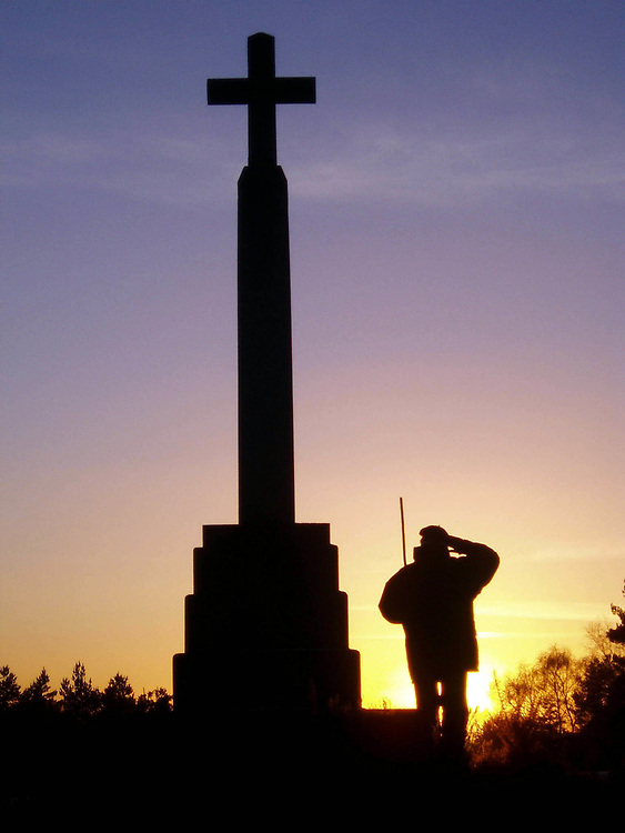 Sunset over the War Memorial on blackheath, Surrey.UK photographed by Jayne Fincher
