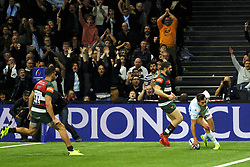 December 9, 2018 - Nanterre, Hauts de Seine, France - Racing 92 Wing JUAN IMHOFF score the second try of his team during the rugby Champions Cup Day 3 between Racing 92 and Leicester at U Arena Stadium in Nanterre - France..Racing 92 Won 36-26. (Credit Image: © Pierre Stevenin/ZUMA Wire)