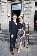 Tom Lavin and his wife Tara Lavin from Annaghdown who won Hotel Meyrick Most Stylish Lady event on ladies day of The Galway Races. Photo:Andrew Downes