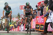 Arrival Davide Formolo (ITA - Bora - Hansgrohe) - Fabio Aru (ITA - UAE Team Emirates) during the 101th Tour of Italy, Giro d'Italia 2018, stage 14, San Vito Al Tagliamento - Monte Zoncolan 181 km on May 19, 2018 in Italy - Photo Ilario Biondi / BettiniPhoto / ProSportsImages / DPPI