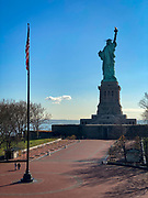 Rear view of the Statue of Liberty in New York City