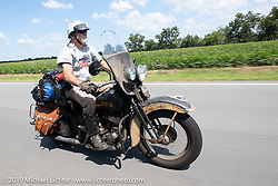 Mike McCloud rode his 1938 Harley-Davidson ULH for several days along with the Cross Country Chase motorcycle endurance run from Sault Sainte Marie, MI to Key West, FL. (for vintage bikes from 1930-1948). Stage-7 covered 249 miles from Macon, GA to Tallahassee, FL USA. Thursday, September 12, 2019. Photography ©2019 Michael Lichter.