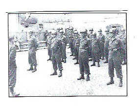 """L-R: Kelch, Strand, Freidel, Feightner, Burkesroda 1945"""