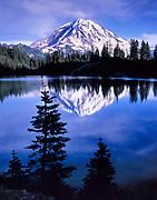 Mount Rainier and Eunice Lake, Mount Rainier National Park, Washington