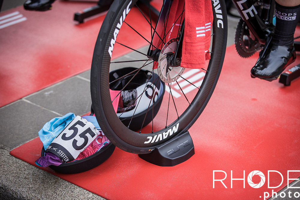 Marjolein van't Geloof (NED/Drops Le Col), pre race warming up<br /> <br /> Ceratizit Festival Elsy Jacobs (LUX) 2021<br /> UCI Women Elite 2.1<br /> Day 1 - prologue : Individual Time Trial (ITT) – Cessange (LUX) 2.2km <br /> <br /> ©RhodePhoto