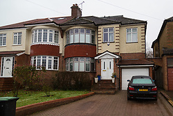 London, December 27 2017. The Southgate, London home, right, of alleged war criminal Chowdhury Mueen-Uddin who was convicted and sentenced to death in his absence for war crimes in Bangladesh during the 1971 Bangladeshi war of independence. © SWNS