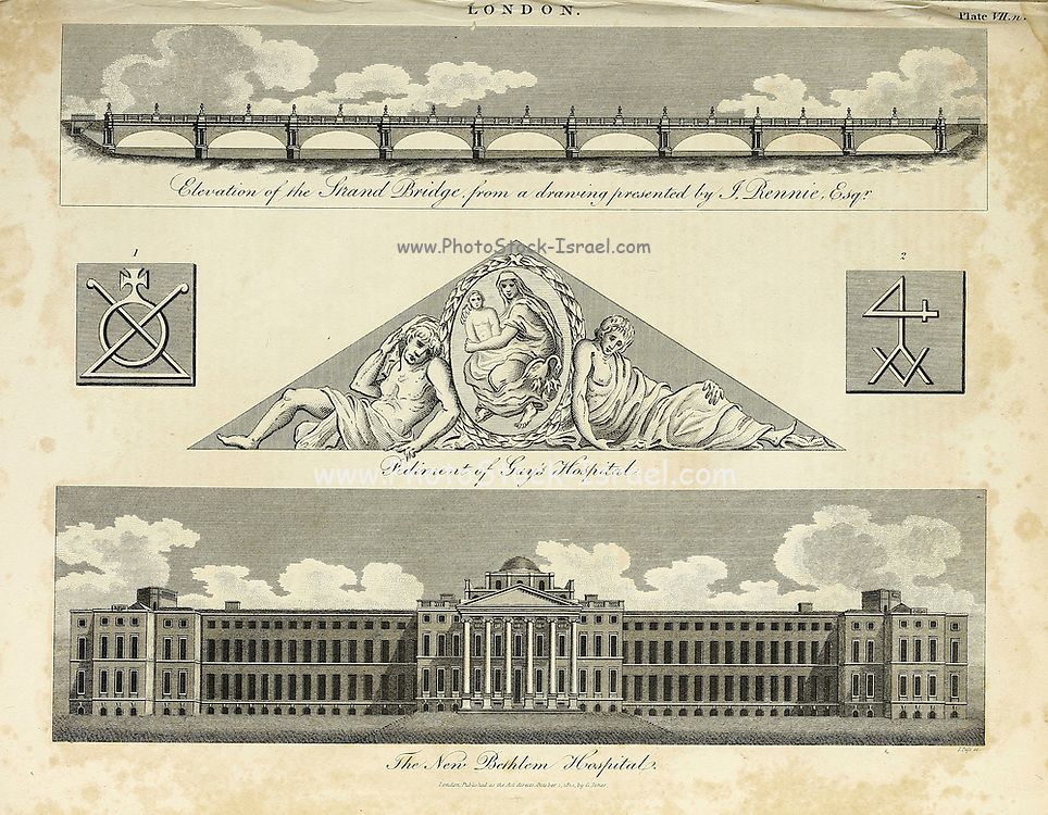 Bethlem Royal Hospital, also known as St Mary Bethlehem, Bethlehem Hospital and Bedlam, is a psychiatric hospital in London. Architecture in the City of London Copperplate engraving From the Encyclopaedia Londinensis or, Universal dictionary of arts, sciences, and literature; Volume XIII;  Edited by Wilkes, John. Published in London in 1815