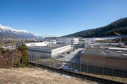 28.02.2019, Innsbruck, AUT, FIS Weltcup Langlauf, nach der gestrigen Doping Razzia in den Unterkünften der ÖSV Athleten und einem benachbarten Ferienhaus (Villa Seefeld) in welchem mutmaslich Blutdoping bei den Sportlern angewandt wurde.<br /> Zwei Athleten des ÖSV wurden dabei von der Polizei Festgenommen, einer der Beiden Verahfteten wurde dabei laut Auskunft der Polizei, auf frischer tat ertappt, im Bild Übersicht Justizanstalt Innsbruck // Overview Prison Innsbruck after yesterday's doping raid in the accommodations of the ÖSV athletes and a neighboring holiday home (Villa Seefeld) in which presumptive blood doping was applied to the athletes.<br /> Two athletes of the ÖSV were arrested by the police. One of the two men was detained, according to the police, and caught red-handed. FIS Nordic Ski World Championships 2019. Innsbruck, Austria on 2019/02/28. EXPA Pictures © 2019, PhotoCredit: EXPA/ Johann Groder