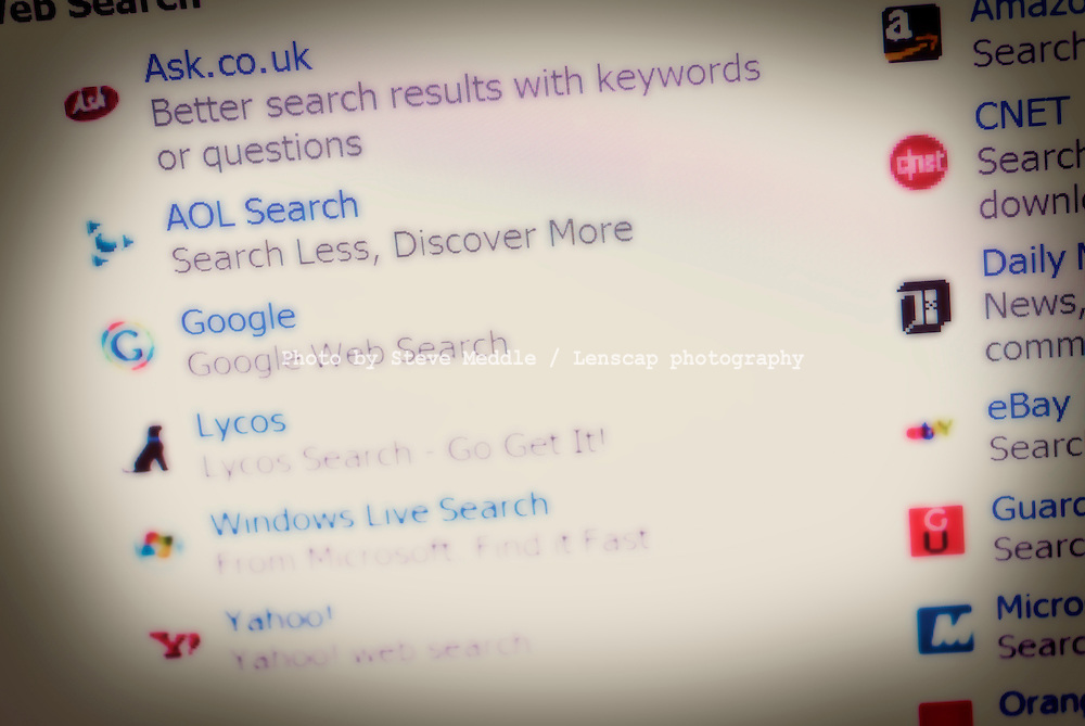 Various Search Engine Websites