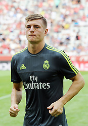 04.08.2015, Allianz Arena, Muenchen, GER, AUDI CUP, Real Madrid vs Tottenham Hotspur, im Bild Toni Kroos (Real Madrid) // during the 2015 AUDI Cup Match between Real Madrid and Tottenham Hotspur at the Allianz Arena in Muenchen, Germany on 2015/08/04. EXPA Pictures © 2015, PhotoCredit: EXPA/ Eibner-Pressefoto/ Stuetzle<br /> <br /> *****ATTENTION - OUT of GER*****