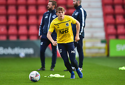 """Cameron Hargreaves of Bristol Rovers warm up with """" Thank You NHS """" tops on  - Mandatory by-line: Alex James/JMP - 21/11/2020 - FOOTBALL - County Ground - Swindon, England - Swindon Town v Bristol Rovers - Sky Bet League One"""