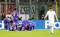 Fotball<br /> Italia<br /> Foto: Inside/Digitalsport<br /> NORWAY ONLY<br /> <br /> Adrian Mutu (Fiorentina) celebrates after scoring goal<br /> <br /> 05.11.2008<br /> Champions League 2008/2009<br /> Fiorentina v Bayern München (1-1)