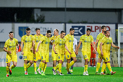 Players of Domzale during football match between NK Domzale and NK Koper in 34th Round of Prva liga Telekom Slovenije 2020/21, on May 16, 2021 in Sports park Domzale, Domzale, Slovenia. Photo by Vid Ponikvar / Sportida