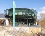 Modern architecture of Odeon cinema building in Trowbridge, Wiltshire, England, UK