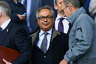 Farhad Moshiri, Major shareholder of Everton FC looks on from the directors box. Premier league match, Everton v Chelsea at Goodison Park in Liverpool, Merseyside on Sunday 30th April 2017.<br /> pic by Chris Stading, Andrew Orchard sports photography.