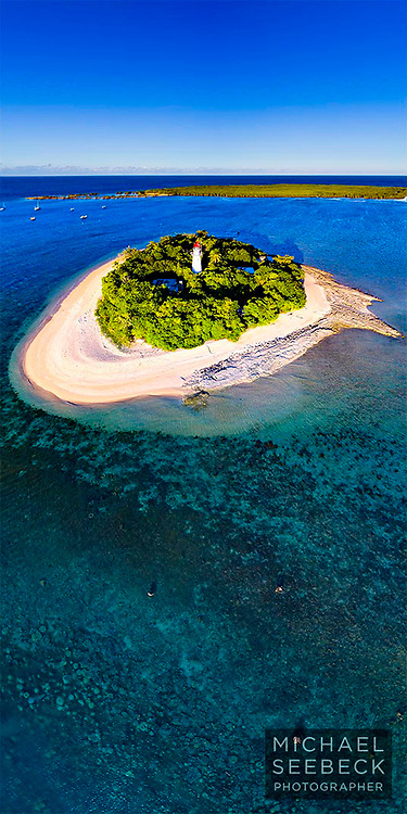 An aerial view of Low Isles on the Great Barrier Reef.<br /> <br /> Limited Edition Print of 125