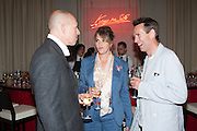 DYLAN JONES; TRACEY EMIN; OLIVER PEYTON  VIP room during the RA summer exhibition party. Royal Academy, Piccadilly. London. 5 June 2013.