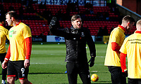 Lincoln City's assistant manager Nicky Cowley during the pre-match warm-up<br /> <br /> Photographer Andrew Vaughan/CameraSport<br /> <br /> The EFL Sky Bet League Two - Lincoln City v Northampton Town - Saturday 9th February 2019 - Sincil Bank - Lincoln<br /> <br /> World Copyright © 2019 CameraSport. All rights reserved. 43 Linden Ave. Countesthorpe. Leicester. England. LE8 5PG - Tel: +44 (0) 116 277 4147 - admin@camerasport.com - www.camerasport.com