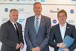 , Kieler Woche PK 19.05.2015, Neumann, Michael - Ramhorst, Dirk - Kämpfer, Dr. Ulf亅