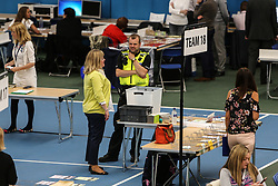June 8, 2017 - Sunderland, Tyne and Wear, United Kingdom - Image ©Licensed to i-Images Picture Agency. 08/06/2017. Sunderland, United Kingdom. ..Preparation for the Sunderland General Election vote count gets underway at Silksworth Community Poll, Tennis and Wellness Centre. ..Picture by Tom Banks / i-Images (Credit Image: © Tom Banks/i-Images via ZUMA Press)