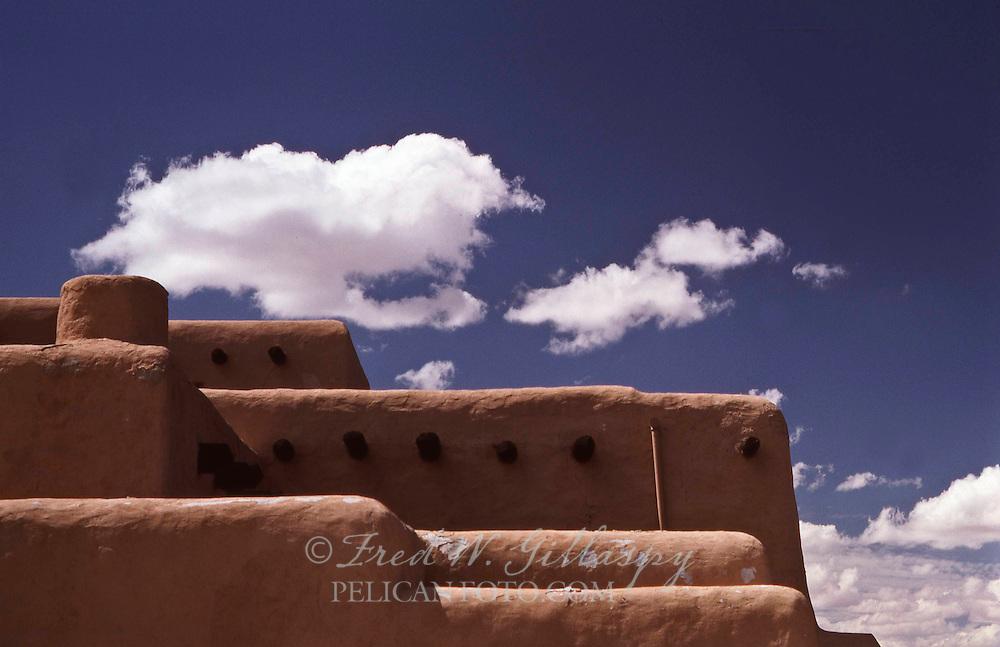 Downtown Santa Fe, New Mexico — Pueblo-Style Architecture