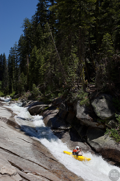 """""""Kayaker on Silver Creek 6"""" - This kayaker was photographed on Silver Creek - South Fork, near Icehouse Reservoir, CA."""