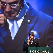 Jyrki Katainen giving his last speech as Prime Minister. Etelä-Suomen Sanomat, 2014