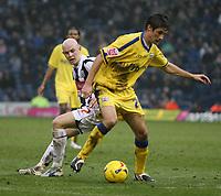 Photo: Mark Stephenson.<br />West Bromwich Albion v Southampton. Coca Cola Championship. 10/02/2007. Southampton's Gareth Bale on the ball