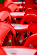 Red abstract with chairs