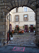 Rennes, FRANCE, One of the many Bars surrounding Rennes Market, Courtyard view with Wine barrels decoration, Saturday morning market, Brittany. [2009 Boxing day Market]  Saturday  26/12/2009 [Mandatory Credit Peter Spurrier Intersport Images]