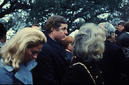 Johnson City, TX, 1973/03/01 Senator Edward Kennedy andf wife Joan at the  funeral of  President Johnson in March 1973<br /><br /><br />Photgraph by Dennis Brack BS B13