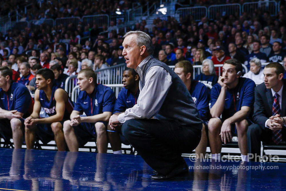 INDIANAPOLIS, IN - DECEMBER 28: Head coach Rick Byrd of the Belmont Bruins is seen on the sidelines during the game against the Butler Bulldogs at Hinkle Fieldhouse on December 28, 2014 in Indianapolis, Indiana. (Photo by Michael Hickey/Getty Images) *** Local Caption *** Rick Byrd