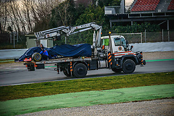February 19, 2019 - Barcelona, Catalonia, Spain - The in his STR14 of ALEXANDER ALBON (THA) from team Toro Rosso is recovered during day two of the Formula One winter testing at Circuit de Catalunya (Credit Image: © Matthias OesterleZUMA Wire)