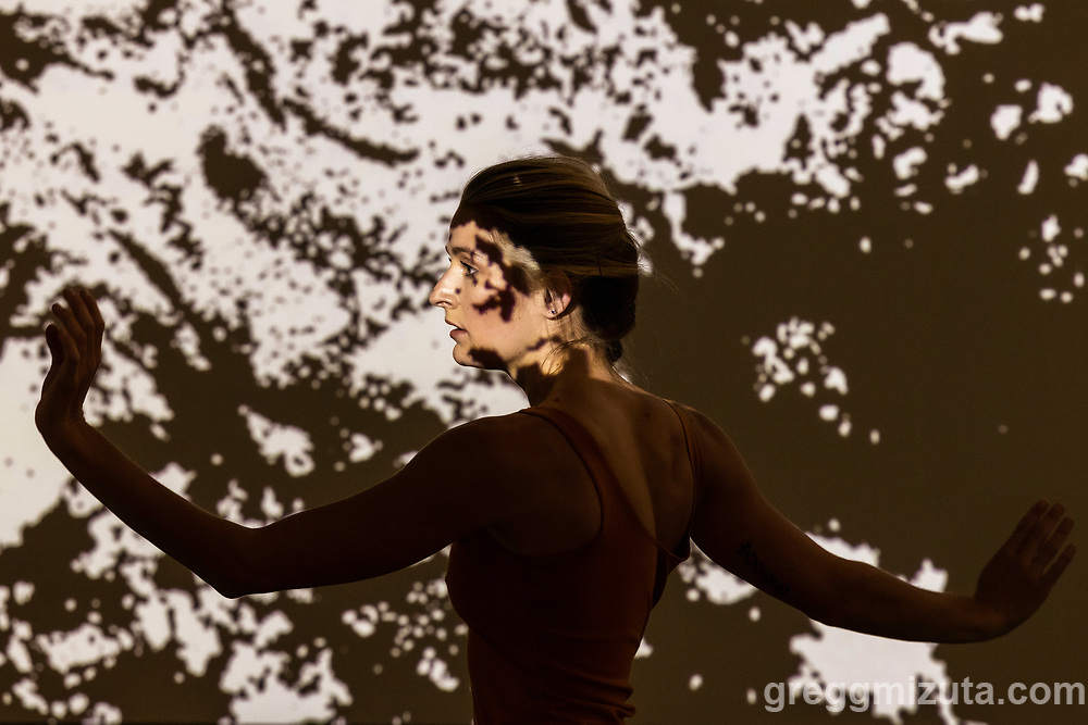Annette Taylor. The premiere of Anagnorisis, a live music and dance collaboration between musician/composer Sean Dahlman and dancer/choreographer Meaghan Novoa. June 26, 2021, 3:30 show, at JUMP in Boise, Idaho.<br /> <br /> Together with local musicians, contemporary dancers, and visual artists, Sean & Meaghan presented a heartfelt premiere concert that deep dived into their individual and collective realizations as young artists trying to make sense of a world wide disaster.<br /> <br /> Anagnorisis: Original music performed and written by Sean Dahlman, Seth Graham, and Anthony Parry. Choreography by Meaghan Novoa in collaboration with dancers Gemze Cloudt, Caitlin Cullen, Lemuel Reagan, Annette Taylor, and rehearsal assistant Anna Adaska. Video art by Sean Dahlman. An original oil painting by Sean Ahern. Poetry by Davina Hart read by Michele L. Appel.<br /> <br /> Anagnorisis: The point in a play or novel in which a principal character recognizes or discovers another character's true identity or the true nature of their own circumstances.