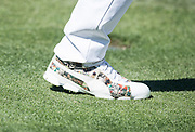 Rickie Fowler (USA) pays homage to `Arnold Palmer with his compton designed shoes, during the First Round of the The Arnold Palmer Invitational Championship 2017, Bay Hill, Orlando,  Florida, USA. 16/03/2017.<br /> Picture: PLPA/ Mark Davison<br /> <br /> <br /> All photo usage must carry mandatory copyright credit (© PLPA | Mark Davison)