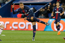 PSG's Kylian Mbappe during the French First League soccer match, PSG vs Rennes in Parc des Princes, France, on May 12th, 2018. PSG won 5-0. Photo by Henri Szwarc/ABACAPRESS.COM